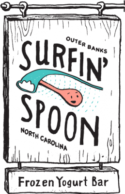 surfin spoon signpost obx frozen yogurt